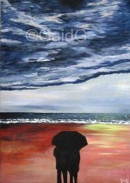 Fin d'orage - Acrylique sur toile 50x70cm