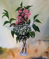 Bouquet énergivore - Acrylique sur toile - 55x46 cm