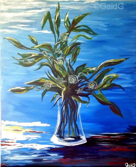 Bouquet Universel - Acrylique sur toile - 50x60 cm
