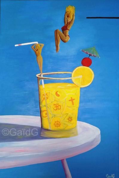 Cocktail Explosif - Acrylique sur toile - 60x90 cm
