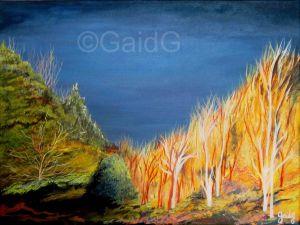 GaidG - Lumière d'orage 2 - Acrylique sur toile 40x30cm