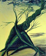 Femme Arbre - Acrylique sur toile - 61 x 50 cm