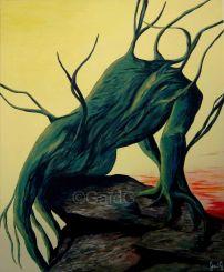 Homme arbre - Acrylique sur toile - 61x50cm
