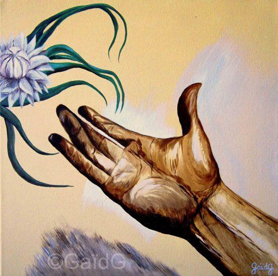 Réconciliation - Acrylique sur toile - 50x50cm