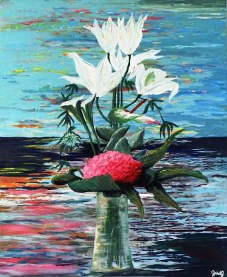 Bouquet d'été - Acrylique sur toile - 61x50 cm