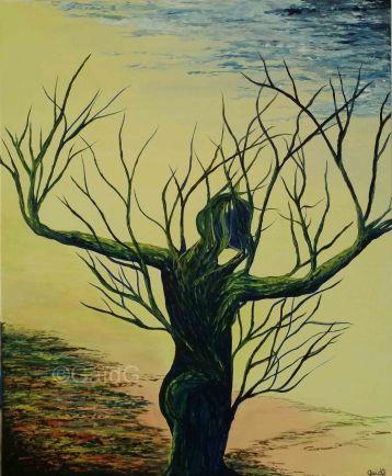 La Danseuse - Acrylique sur toile - 61x50 cm