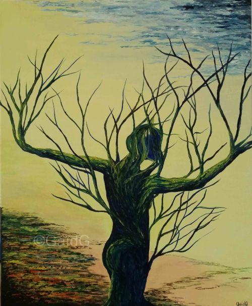 La Danseuse - Acrylique sur toile - 61x50cm