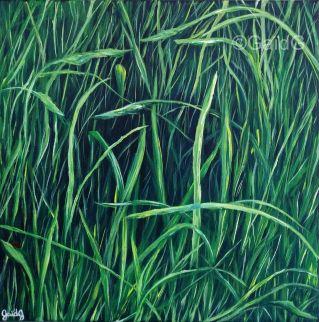 Herbe - Acrylique sur toile - 30x30 cm