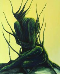 Femme Végétale 2 - Acrylique sur toile - 61x50 cm