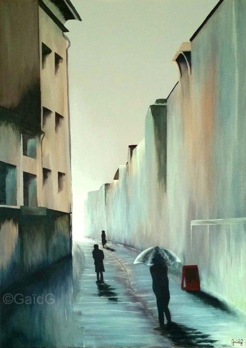 Rennes - Rue SG - Acrylique sur toile - 50x70 cm (vendu)