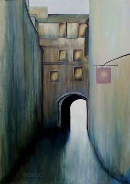 Porte M - Acrylique sur toile - 50x70 cm