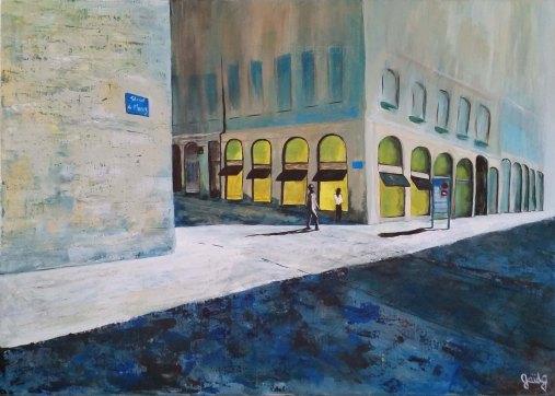 Straed ar Moneiz - Acrylique sur toile - 70x50 cm