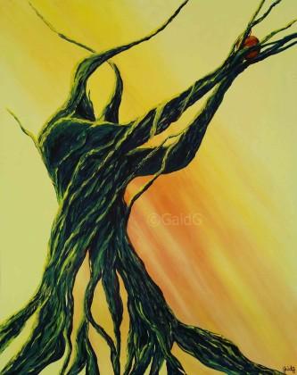 Offrande - Acrylique sur toile - 73x92 cm
