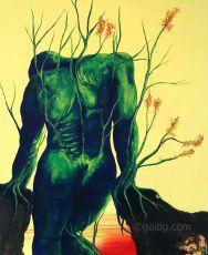 Equilibre précaire - Acrylique sur toile - 50x61 cm