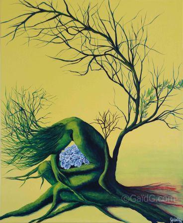 Protection - Acrylique sur toile - 50x61 cm