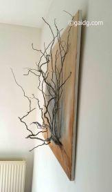 Branches sur toile côté