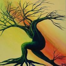 Course - Acrylique sur toile - 30x30 cm