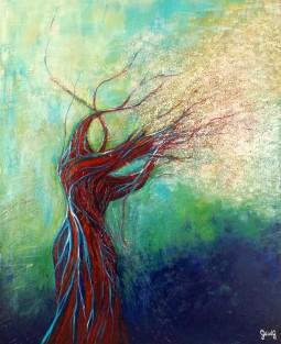 Offrande Printanière - Acrylique sur toile - 50x61 cm