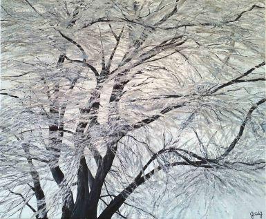 Tonalité hivernale - Acrylique sur toile - 65x54 cm