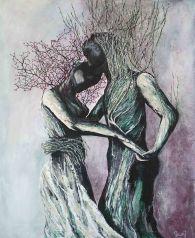 Danse - Acrylique et encre sur toile - 50x61 cm (vendu)