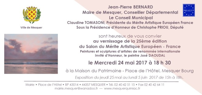 Invitation vernissage 25ème Salon du MAEF du 5 mai 2017