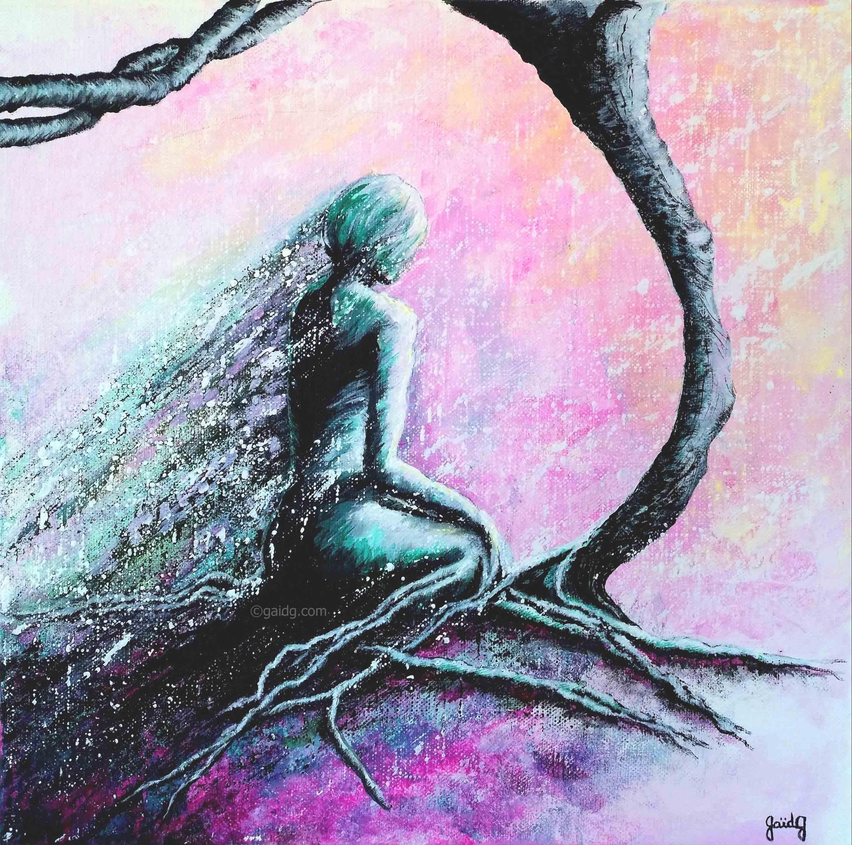 GaidG - Méditation - 30x30 cm
