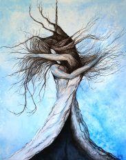 Transe en Danse - Acrylique et encre sur toile - 92x73 cm