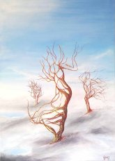 Turbulences - Huile sur toile - 50x70 cm