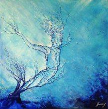 En apesanteur - Acrylique sur toile - 50x50 cm