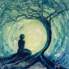 Meditation II - Acrylique sur toile - 50x50 cm