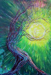 Autre Monde - Acrylique sur toile - 70x100 cm