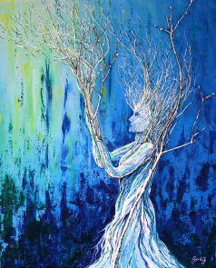 Fusion - Acrylique et bois sur toile - 50x61 cm