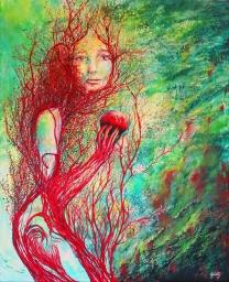 Ambivalence, Acrylique et bois sur toile - 81x100 cm