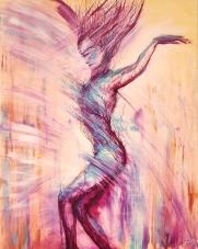 Mouvement - acrylique sur toile - 92x73 cm