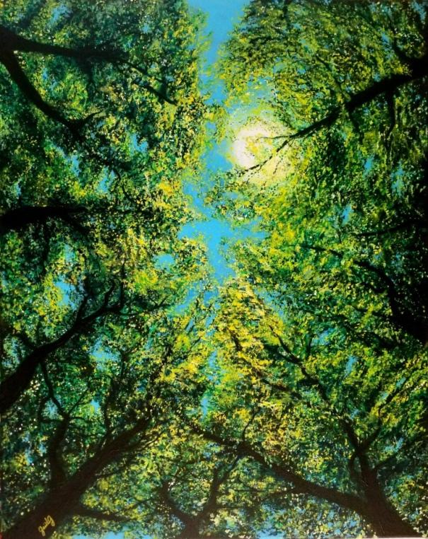 Percée II - Acrylique et encre sur toile - 92x73 cm