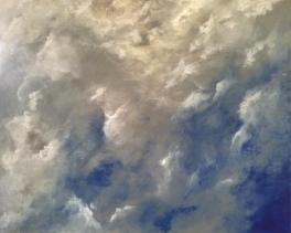 Nuages - Acrylique sur toile - 100x81 cm